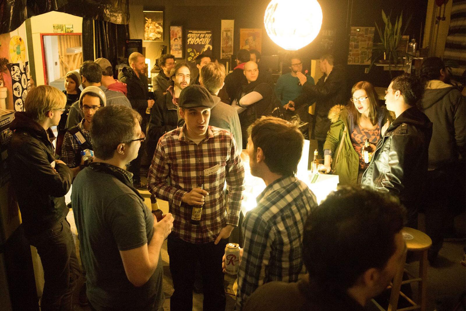 Seattle Indies - Socializing at 17-Bit