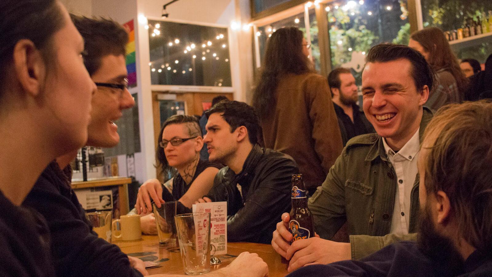 Seattle Indies - Socializing at Raygun Lounge